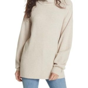 Free People Softly Structured Knit Tunic Oatmeal